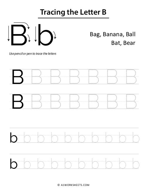 Tracing the Letters B b