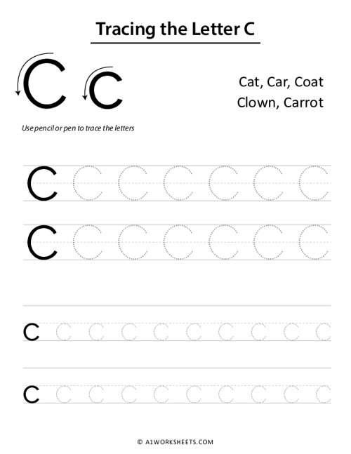 Tracing the Letters C c