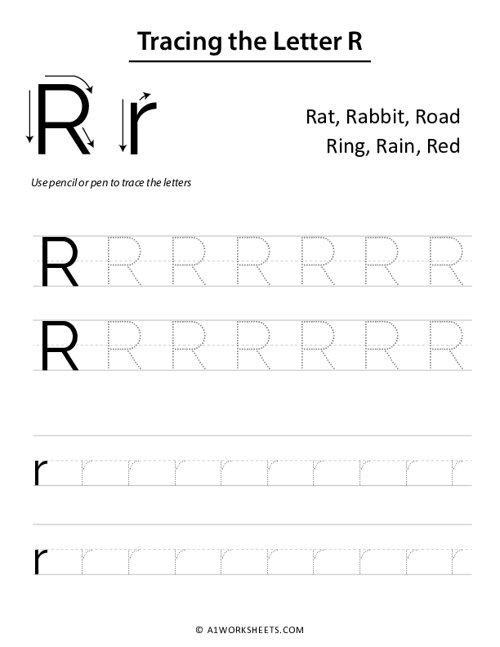 Tracing the Letters R r