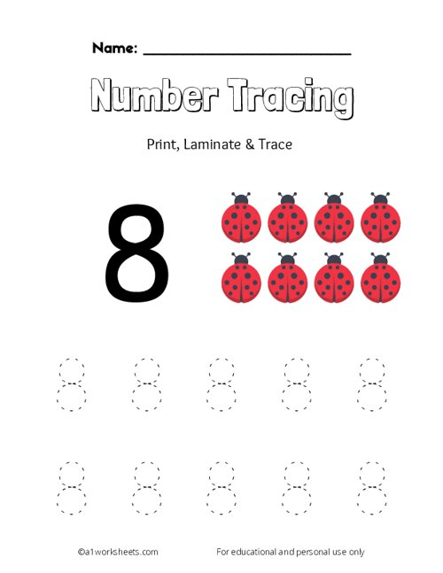 Trace the Number 8