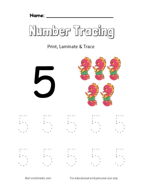 Trace the Number 5