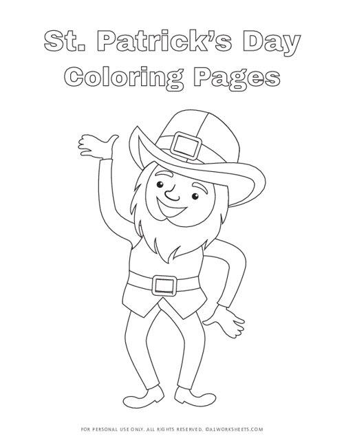 St. Patricks Day Leprechaun Coloring Pages