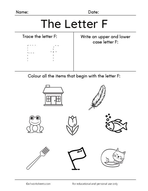 Tracing the Letters F f