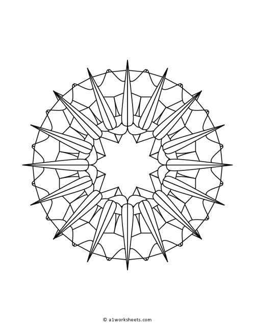 Mandala Pattern Coloring Page