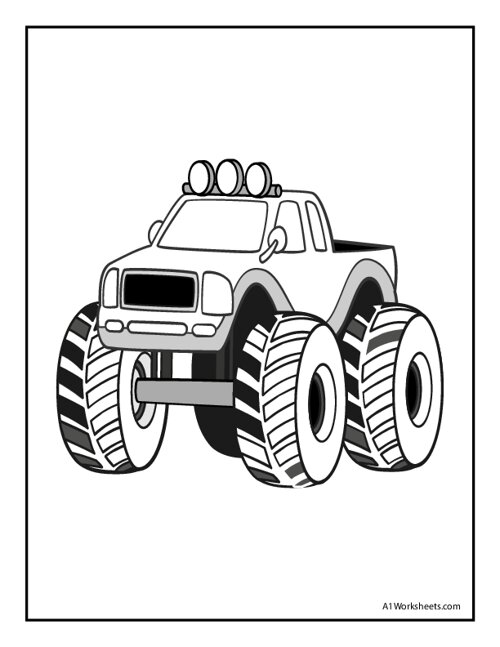 Color the Monster Truck