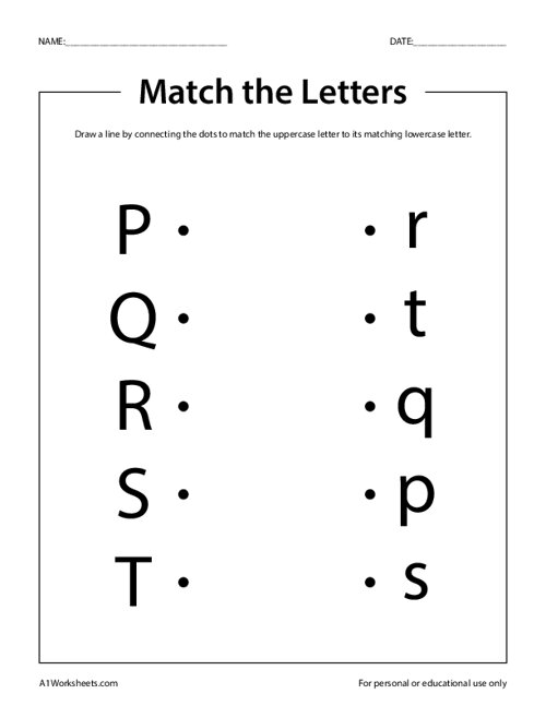 Match the Letters P-T