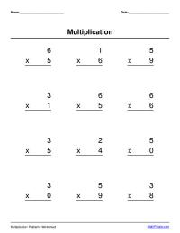 basic multiplication worksheet maker